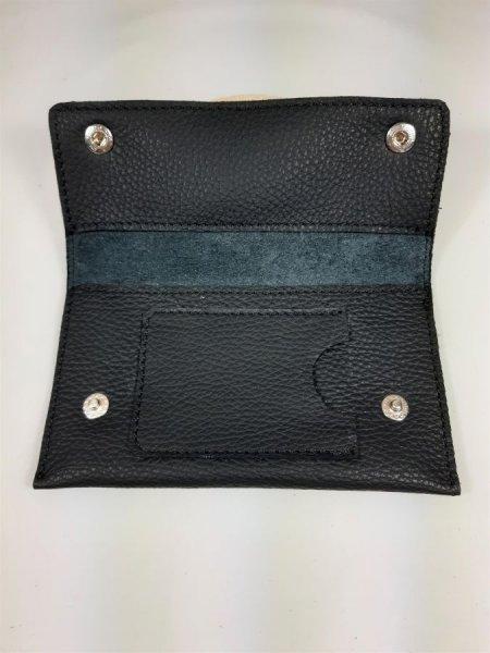 Blague à tabac cuir de vachette grainé coloris noir