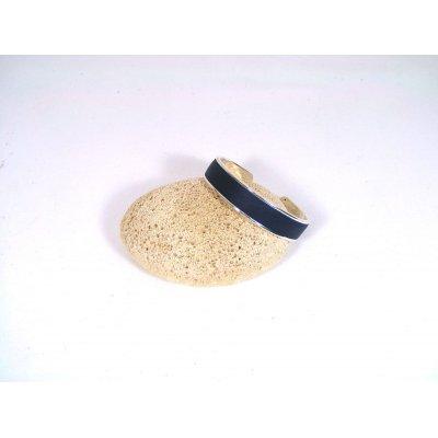 Bracelet métal et cuir.
