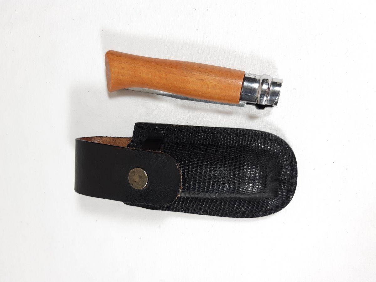 Etui pour couteau en cuir tannage végétal cousu main