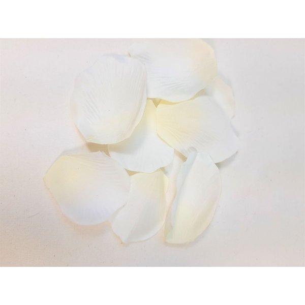 Pétales de rose tissu coloris blanc et jaune.